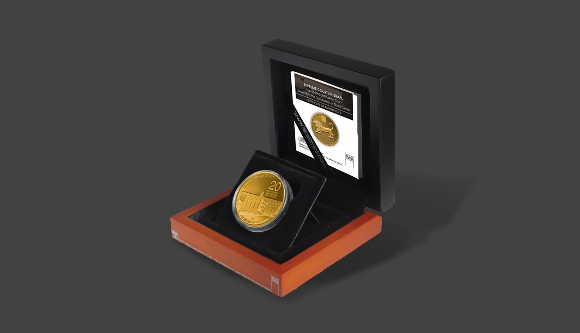 """Seventh in the """"Jerusalem of Gold"""" Bullion Coin Series Legal Tender issued by the Bank of Israel"""